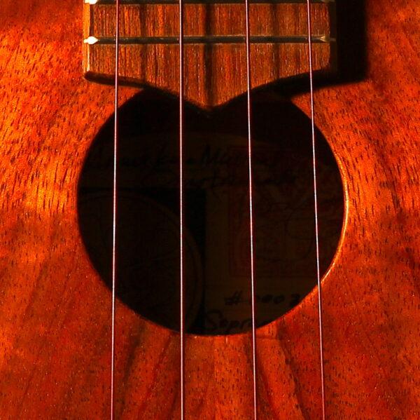 Mele Nahenahe soundhole detail