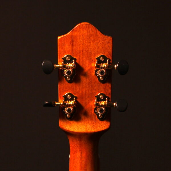 Bubbles & Bunnies headstock back detail