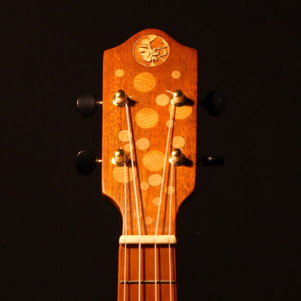 Bubbles & Bunnies headstock front detail